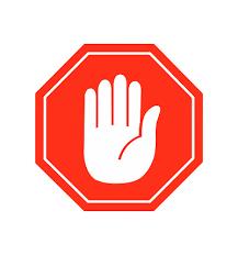 Hand Stopp Icon Vektor Zeichen Symbol Vektor Vektor Auf Weiß Stock ...